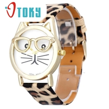 OTOKY Willby femme Cute Glasses Cat Analog Quartz Dial Wrist font b Watch b font font