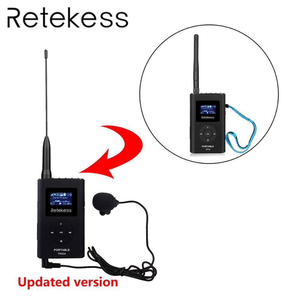 RETEKESS TR504 0 6W wireless FM Transmitter Handheld MP3 Broadcast Portable Radio For Meeting Tour Guide