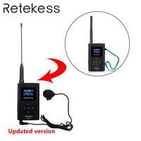 RETEKESS TR504 0,6 Вт беспроводной fm-передатчик ручной MP3 вещания портативный радио для встречи гид системы Открытый Кемпинг
