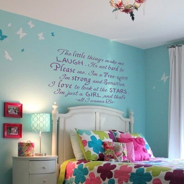 Iu0027m Just A Girl And Thatu0027s All I Wanna Be   Girly Room Decal Part 94