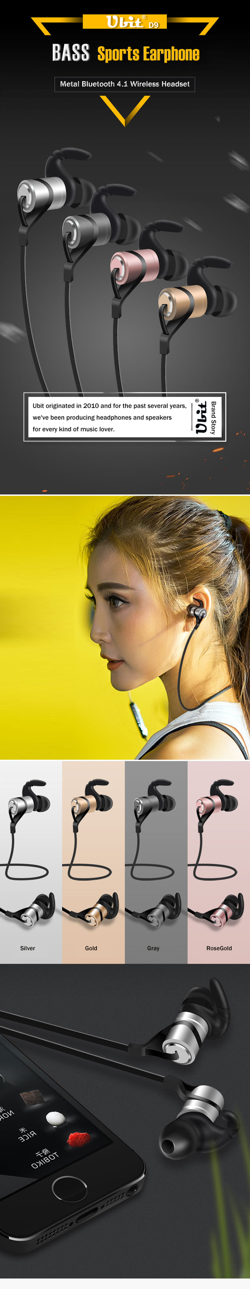 Ubit D9 Bluetooth Earphone (5)