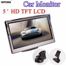 Монитор HD 5 дюймов для автомобиля, автомобильный цифровой ЖК монитор TFT с экраном 16:9 800*480 и 2 полосным видеовходом для камеры заднего вида, с функцией DVD и VCD