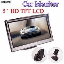 """Hippcron monitor automotivo, monitor para carros de 5, Polegada, lcd 5 """", hd, digital 16:9, 800*480, entrada de vídeo de 2 vias para câmera de visão traseira reversa, dvd vcd"""