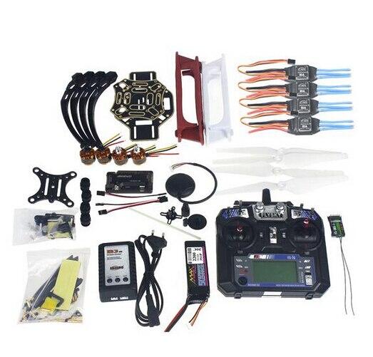 Kit completo rc zangão quadrocopter kit de aeronaves F450-V2 quadro gps apm2.8 controle vôo câmera cardan ptz F02192-X