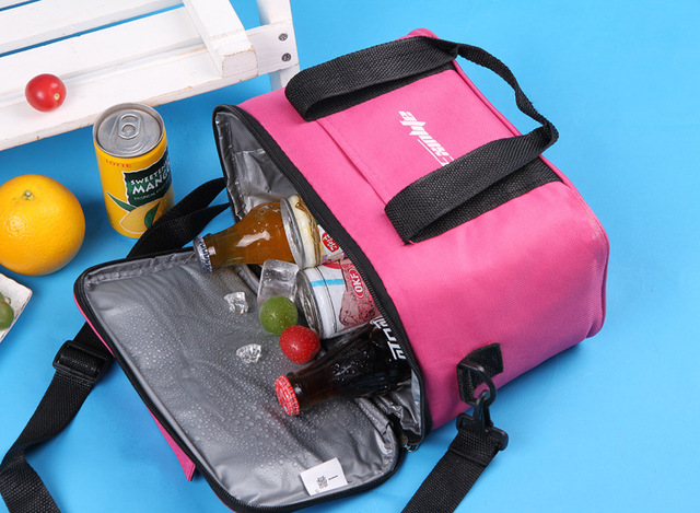 New Branded Thermal Picnic Cooler Lunch Bag Insulated Cool Shoulder Bags Ice Pack Thermo Box