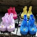 Olor de crema de Bebé Niños Niñas Niños de La Lluvia Zapatos Botas de Lluvia de Rinoceronte mini melissa Sapato Infantil Impermeable Botas De Goma de la jalea