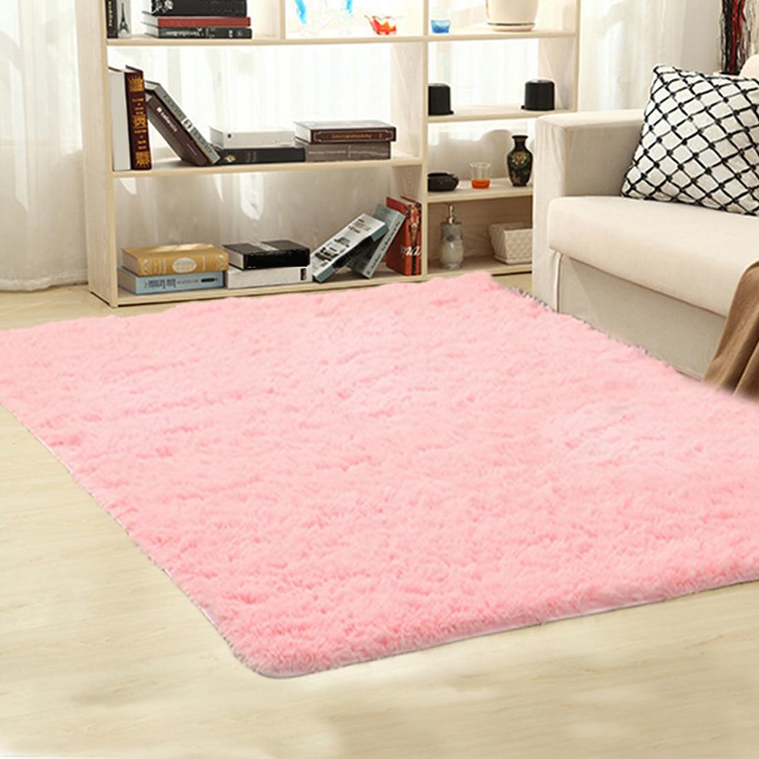 Tapis en peluche doux Shaggy Alfombras tapis en fausse fourrure tapis de sol antidérapant pour salon chambre décoration de la maison fournitures - 4