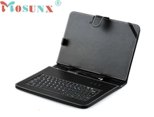 Top Quality For Microsoft Surface RT Win8 Black Faux Leather Stand Case with External Keyboard Stylus Pen MAY17