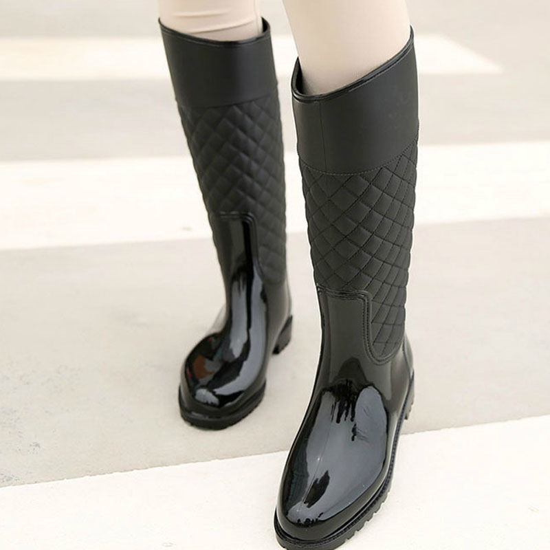 2018 new women rain boots lady rain water shoes outdoor rainboots Italianate Pvc rubber rainboots lady Waterproof shoes rain boots women pvc prince waterproof high heel water shoes tall rain boots ankle gummis rain boots female rubber toe rainboots