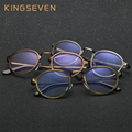 KINGSEVEN 2017 New Retro Glasses Men Anti Blue Laser radiation fatigue Lens Frame Eyeglasses women Round Eyewear Oculos Feminino