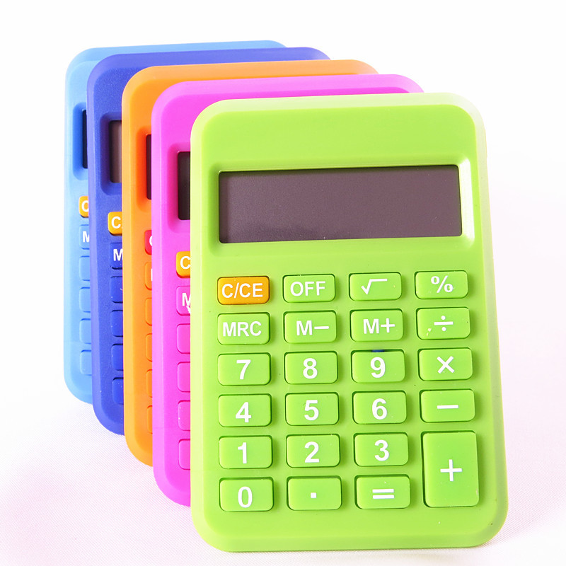 Candy color mini font b calculator b font Korea creative stationery and portable business office learning