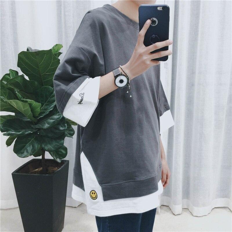 2019 extend hip hop street   T  -  shirt   wholesale fashion brand   t     shirts   men summer long sleeve oversize