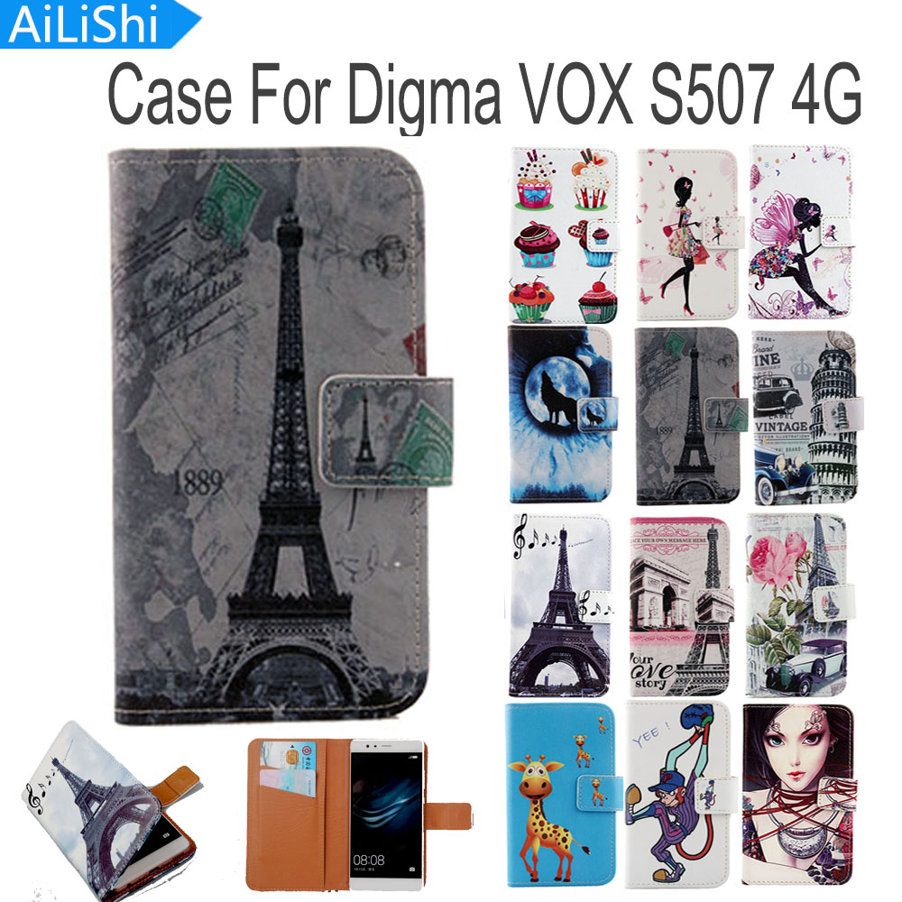 Phone Bags & Cases Lovely Ailishi Flip Pu Leather Case For Digma Vox S507 4g Case High Quality Cartoon Painted Protective Cover Skin In Stock