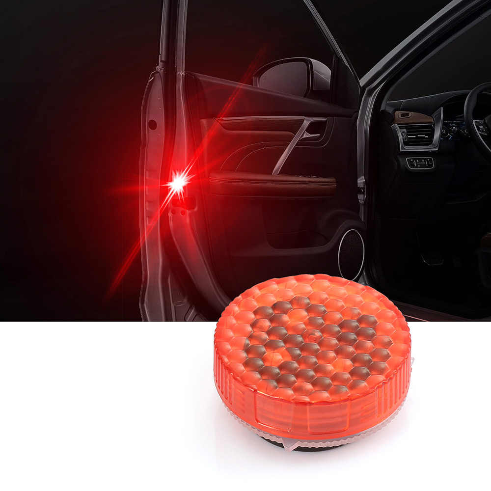 1PIC Car Door Strobe Light Wireless LED Door Opening Warning Lights Waterproof Flashing Anti Rear-end Collision led Safety Lamps
