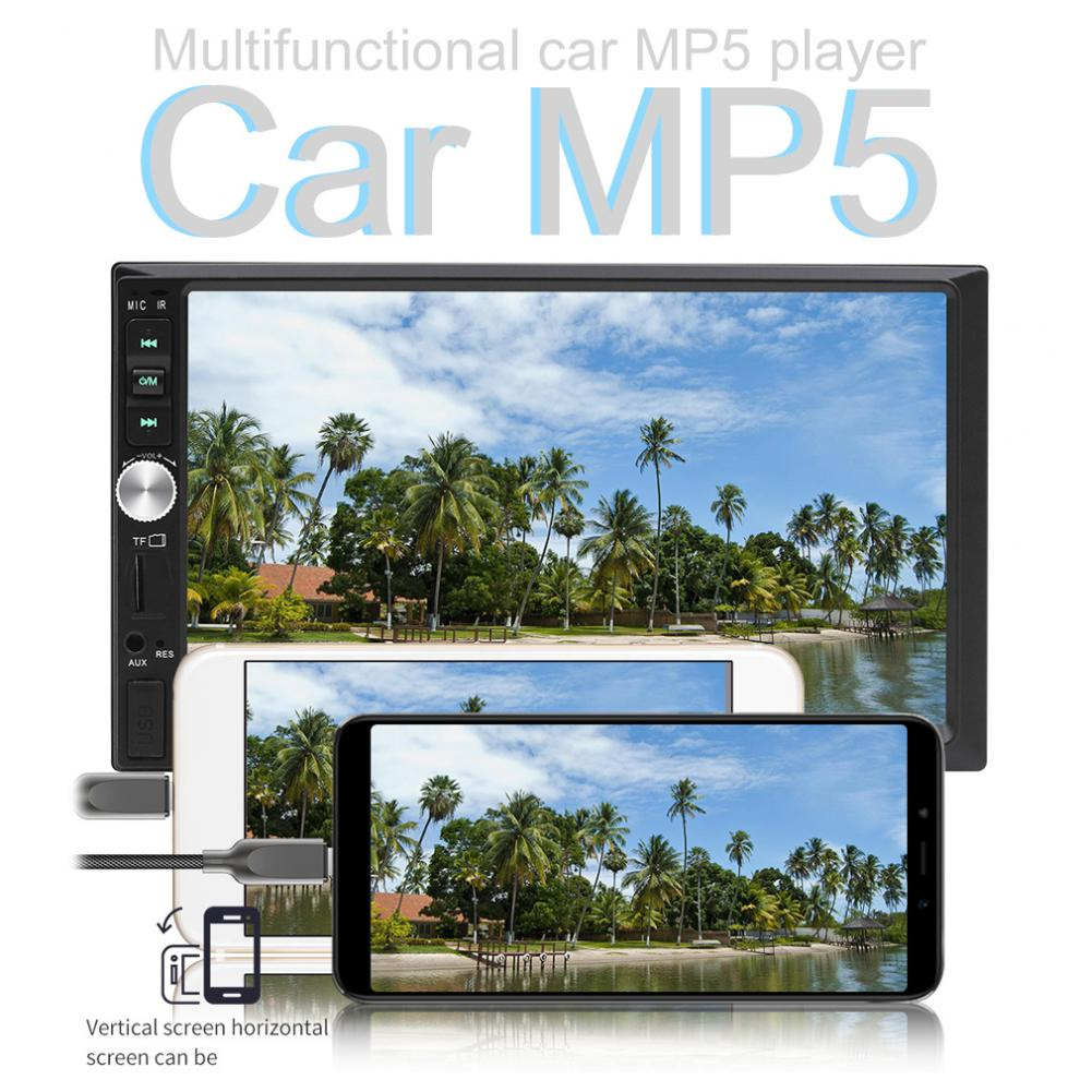 7 Inch 2 DIN In Dash Bluetooth Touch Screen Car Video FM Radio Stereo Player Support Mirror Link for iPhone and Android/Aux In7 Inch 2 DIN In Dash Bluetooth Touch Screen Car Video FM Radio Stereo Player Support Mirror Link for iPhone and Android/Aux In