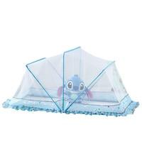 Summer Infant Baby Mosquito Net 2018 New Cartoon Rabbit Printed Blue Folding Newborn Baby Crib Netting Mesh Mosquito Nets