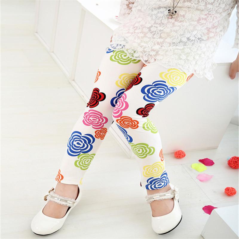 New Style Spring Autumn Children Leggings Flower Butterfly girls pants kids legging 11