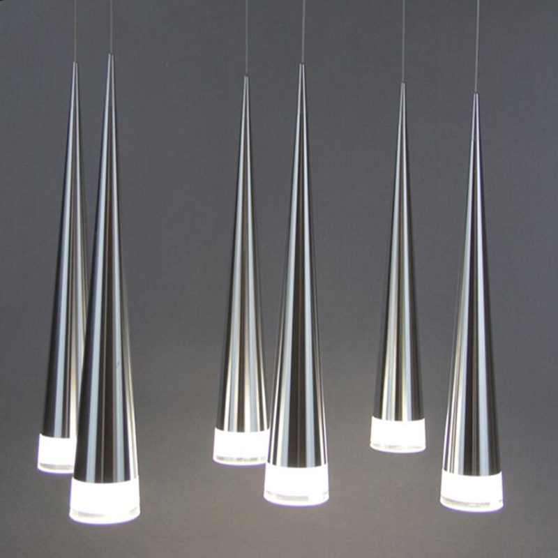 Modern led light aluminum conical pendant metal home  industrial lighting hang dining lamp  living room coffee bar droplight стоимость