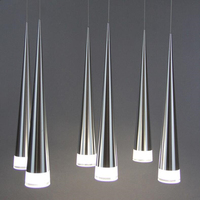 Modern Led Light Aluminum Conical Pendant Metal Home Industrial Lighting Hang Dining Lamp Living Room Coffee