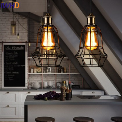 IWHD Iron Hanglamp Loft Industrial Vintage Lamp American Style Retro Pendant Lights Living Room Restaurant home Lighting Fixture jeatone 7 lcd monitor wired video intercom doorbell 1 camera 2 monitors video door phone bell kit for home security system