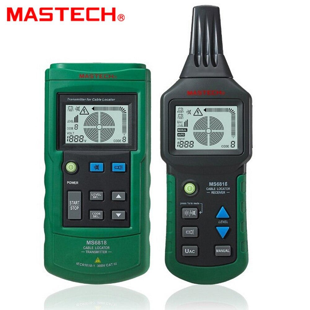 MASTECH MS6818 avancé testeur de fil traqueur multi-fonction détecteur de Câble 12 ~ 400 v Localisateur De Tuyaux Mètre transmetteur de pression