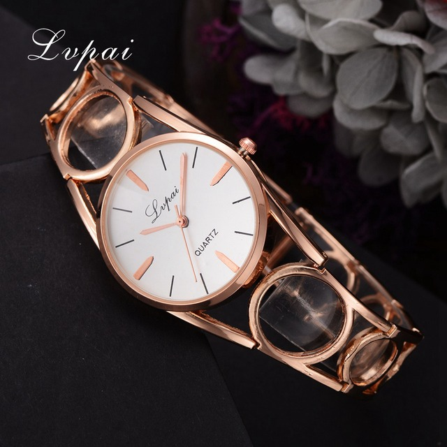 Lvpai Famous Brand 2018 New Women Fashion Luxury Watch Rose Gold Diamond Ladies Wristwatch Casual Women Quartz Watch LP214