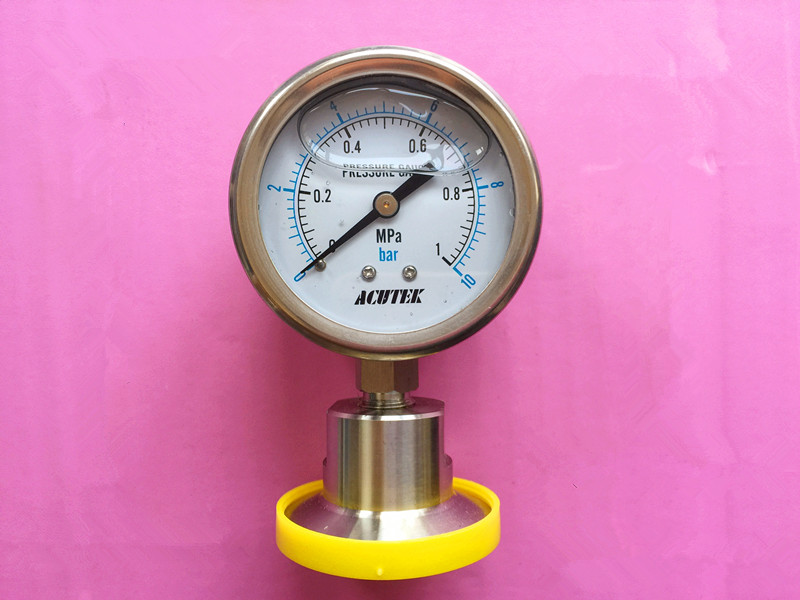 SS316L 1.5in. Tri Clamp Diaphragm Pressure Gauge, 2.5bar/60mm Dial инструменты для сварки bao workers in taiwan ss 571h ss 571h 300w