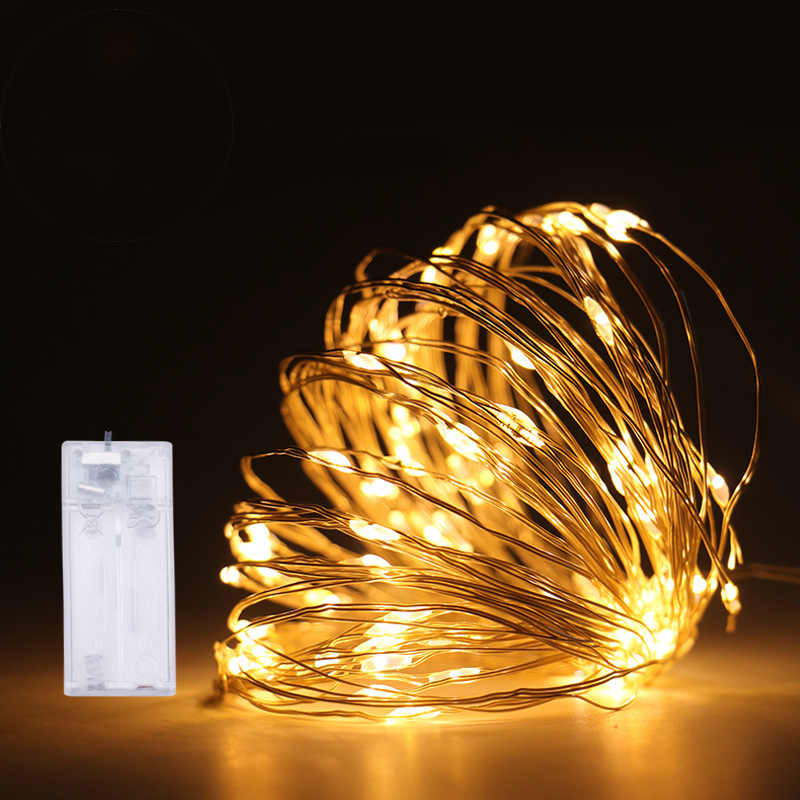 Copper Wire Lamp AAA Battery Box Led Light String Party Holiday Wedding Diy Christmas Tree Decorations For Home New Year's Gift