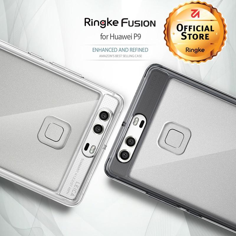 imágenes para Ringke Fusión Huawei Caja P9 PC Contraportada Clara Suave TPU Casos Marco para Huawei P9 Plus MIL-STD516.6 Protección Gota