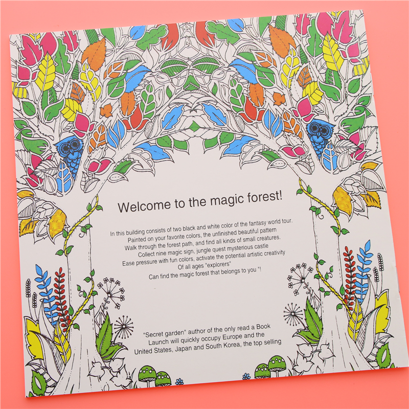 24 Pages Enchanted Forest English Edition Coloring Book For