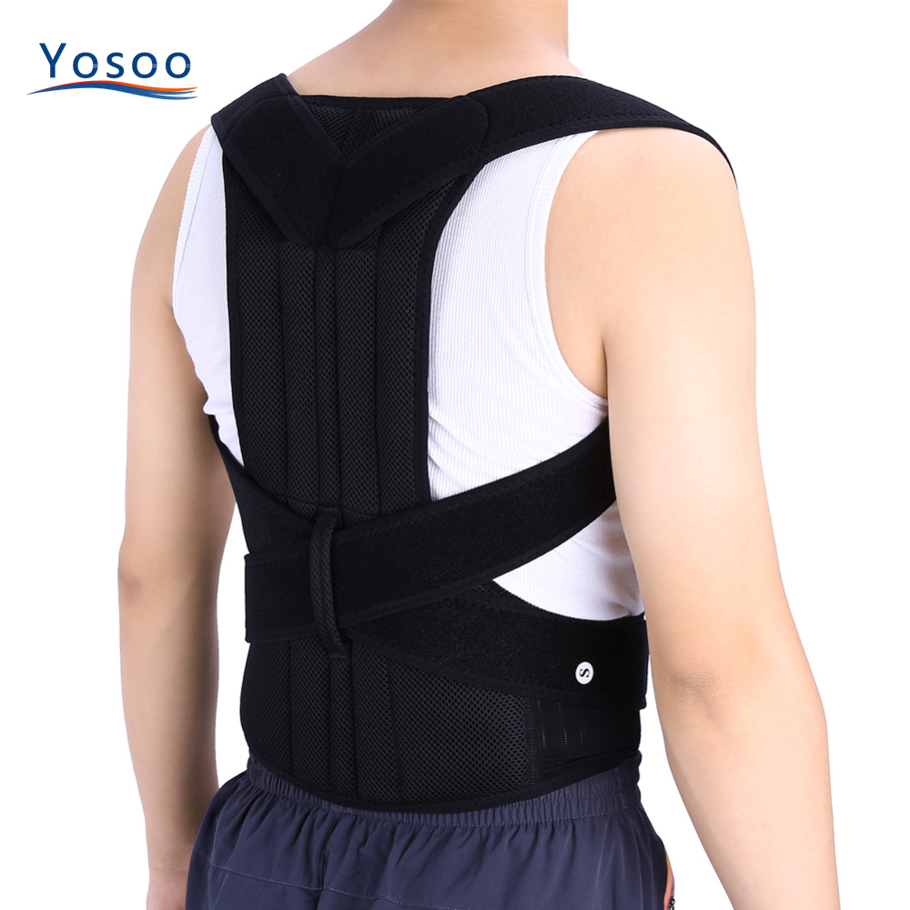 Adjustable Adult Corset Back Posture Corrector Therapy Shoulder Lumbar Brace Spine Support Belt Posture Correction For Men Women цена