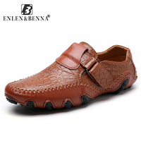 Fashion British Style Men Causal Shoes Genuine Leather Men Shoes Slip On Men High Quality Superstar
