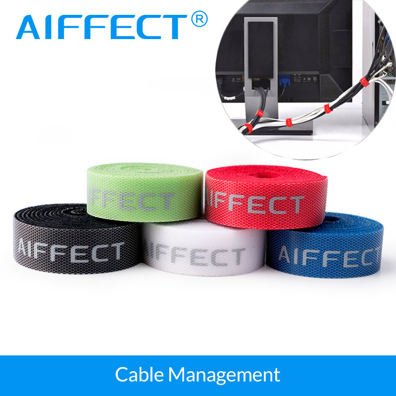 AIFFECT 5 Pcs Cable Winder Wire Cable Organizer Cable Earphone Holder Cord Management Protetor de cabo Hook Loop Magic Tape aifeect 5 pcs nylon cable winder cable wire organizer cable wire management protetor ties wrapped cord line reusable wire winder
