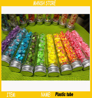 40ml Empty Plastic Tube Candy Bottle With Aluminum Cap Bath Salt Packing Bottle Sample Package Plastic Container 50pcs/lot
