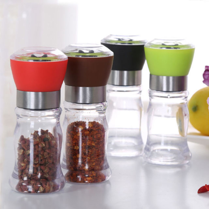 Manual Salt Pepper Mill Grinder Seasoning Muller Cooking Tools Kitchen Accessories Cookware Spice Milling Kitchen Gadget