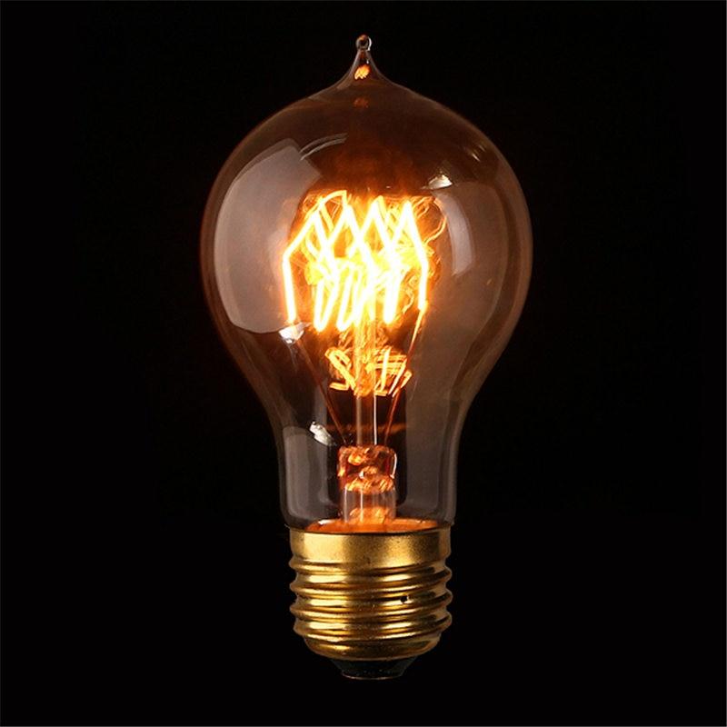 Vintage Edison Bulb E27 B22 A19 40W 60W Antique Filament Lamp Incandescent  Pendant Light Bulb Cafe