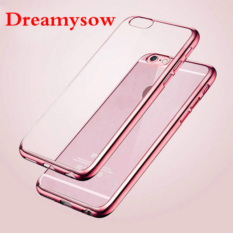 Back Case Cover For iPhone XS MAX XR X 5 5S SE 6 6S Plus 7 8 Plus Ultra Thin Crystal Rubber Plating Electroplating TPU Coque