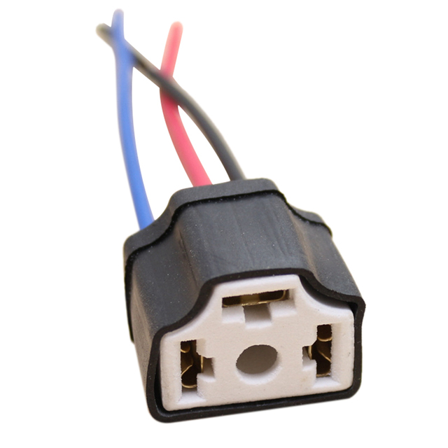 1pcs h4 9003 ceramic wire wiring car truck headlight bulb harness socket  plug lamp bulb wire harness socket adapter 12v