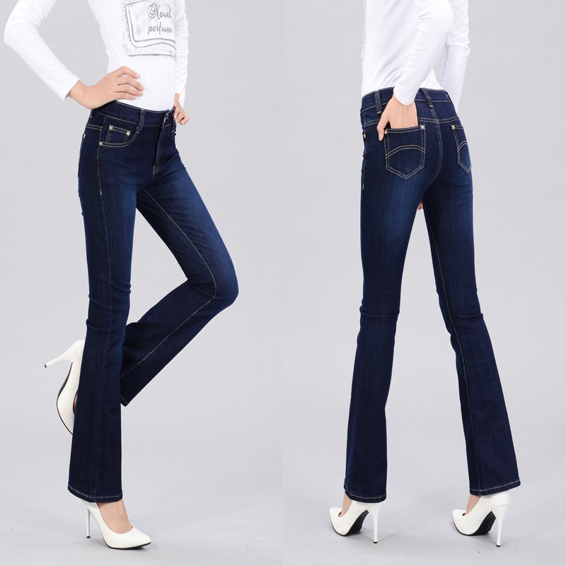 ROKEDISS Autumn High Waist Flare Jeans Pants Plus Size Stretch Skinny Jeans Women Wide Leg Slim Hip Denim Boot Cuts TE002 fashion autumn embroidery high waist flare jeans pants plus size stretch skinny jeans women wide leg slim hip denim boot cuts