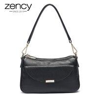 2017 Zency Famous Brand Genuine Leather Luxury Women Messenger Bags Designer Ladies Handbag Shoulder Crossbody