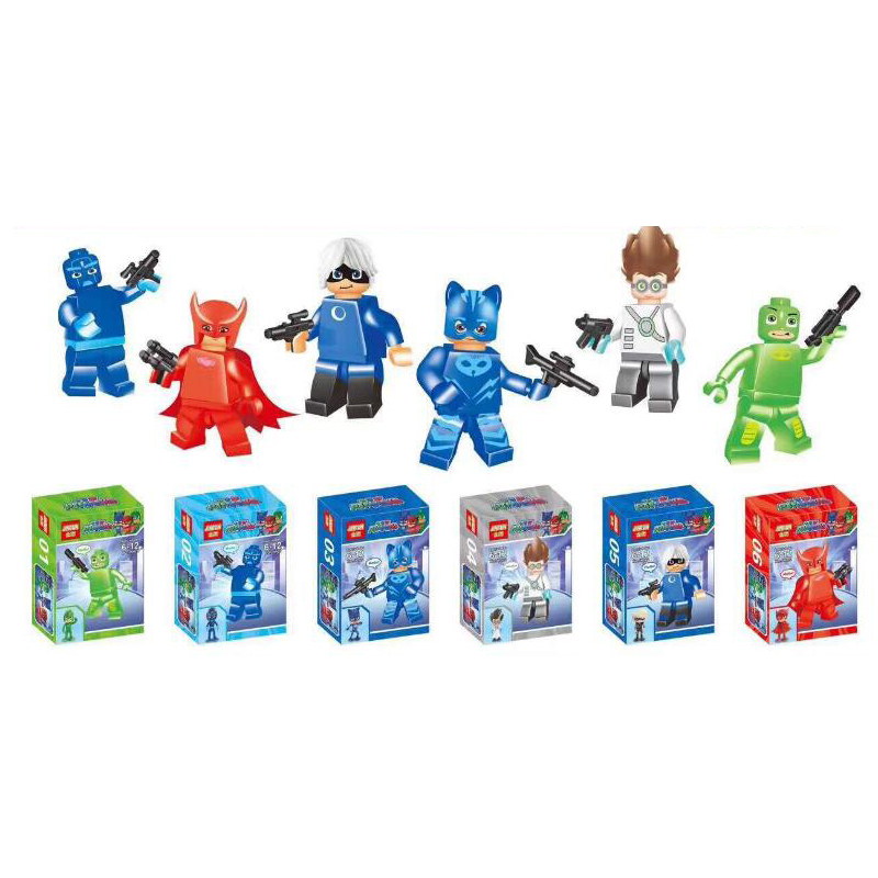 PJ masks personaggi-set 5 pezzi