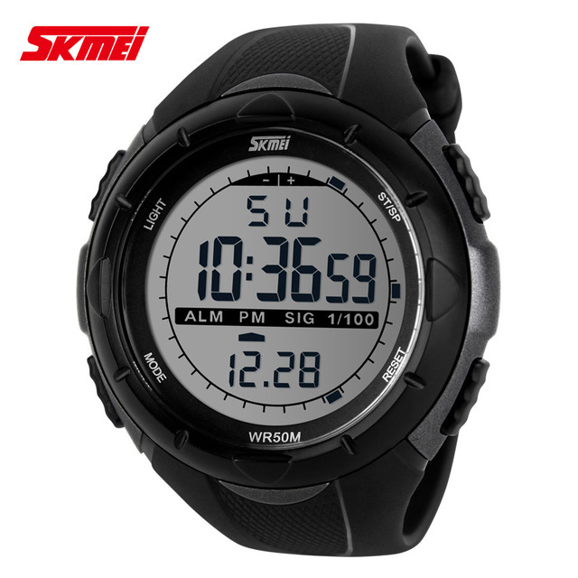 SKMEI 1025 Men Sports Watches Countdown Double Time Watch Alarm Chrono Digital Wristwatches 50M Waterproof Relogio Masculino все цены