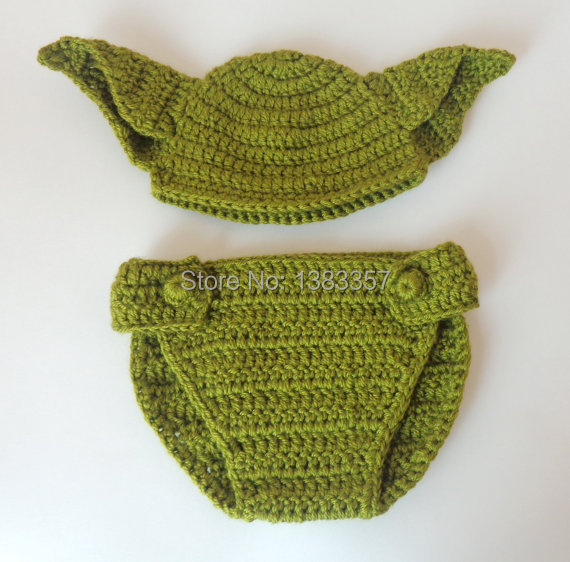 Baby Yoda Baby Hat And Diaper Cover Star Wars Newborn Crochet Hat