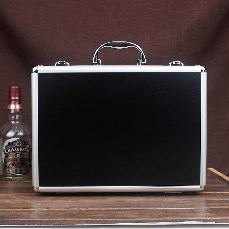 Tactical box aluminium tool case 345*245*75MM tool and file storage Hard carry tool box Hand Gun Locking Pistol with foam lining