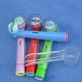 Vbatty, 4 Uds., cepillos de dientes eléctricos para blanqueamiento dental, cabezales de reemplazo para Oral B Vitality, suaves, brillantes con cubierta protectora