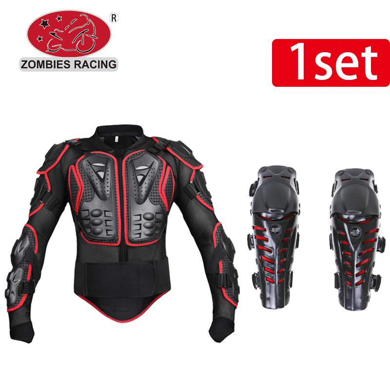 Z racing 1 sets Motorcycle Body Protection Motocross Racing Full Body Armor+Motocycle Knee Pad Motorcycle Armor for Real Riders herobiker motorcycle body protection motocross racing full body armor gears short pants motocycle knee pad motorcycle armor