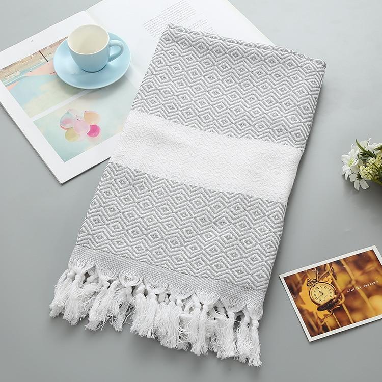 LYN&GY Turkish Beach Towels Cotton Plaids Thin Bath Towel