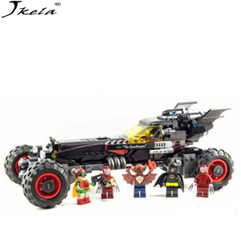 [Jkela] 2017 Super Heroes Batman movie series building Blocks bricks Toys for Gifts children Compatible with Legoingly Batman moc 1128pcs the batman movie bane s nuclear boom truck super heroes building blocks bricks kids toys gifts not include minifig