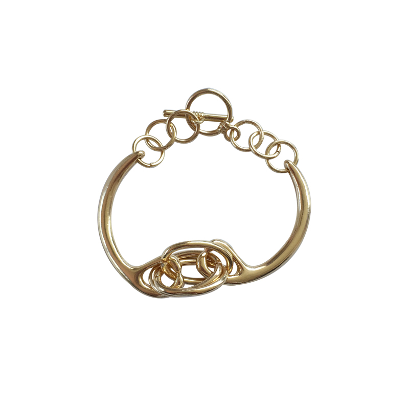 Quality simple circular <font><b>ring</b></font> metal fashion <font><b>bracelet</b></font> for woman jewelry image