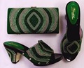 green Shoes and Bag To Match Italian African Shoe and Bag Set for Party In Women Nigerian Prty Shoes and Bag Set  !MHY1-31